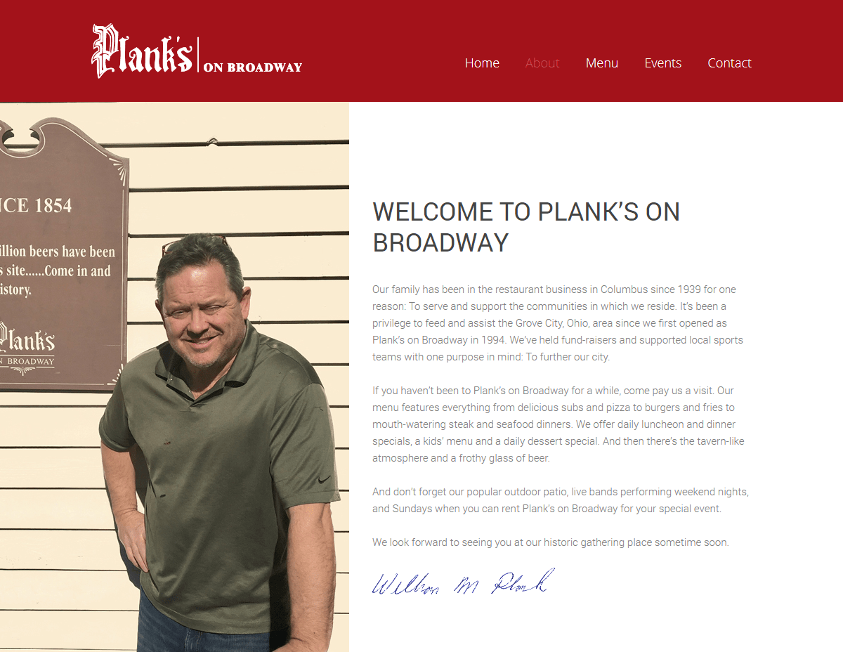 PLANKS ON BROADWAY restaurant